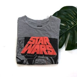 Star Wars Gray Comic Strip Short Sleeve Tee Shirt